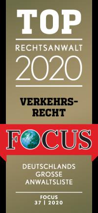 FOCUS Siegel TOP Rechtsanwalt 2020